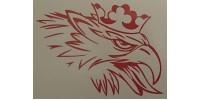 Gripen Reflexdekal Röd 200x146mm